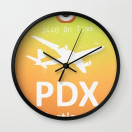 PDX Portland airport Wall Clock