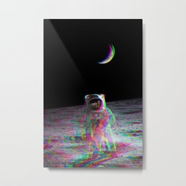 HIGH ASTRONAUT ON THE MOON Metal Print