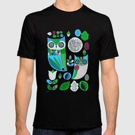 Night Owls Retro Pattern T-shirt