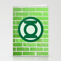 green lantern Stationery Cards featuring Green Lantern by DeBUM