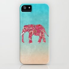 Whimsical Colorful Elephant Tribal Floral Paisley Slim Case iPhone (5, 5s)