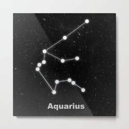 Aquarius star constellation Metal Print