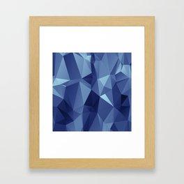 Polygon Royal Framed Art Print