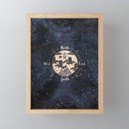 Compass World Star Map Framed Mini Art Print
