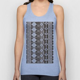 Colorful Aztec pattern with brown. Unisex Tank Top