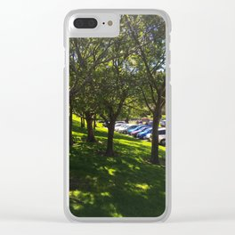 Carpark Trees Clear iPhone Case