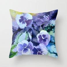 Pansies Crush  Throw Pillow