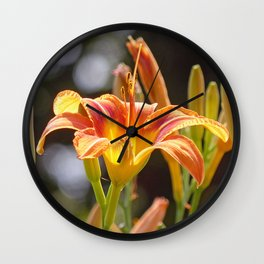 Lilies in the Sunshine Wall Clock