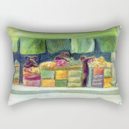 The Fishstronaut Goes to Market Rectangular Pillow