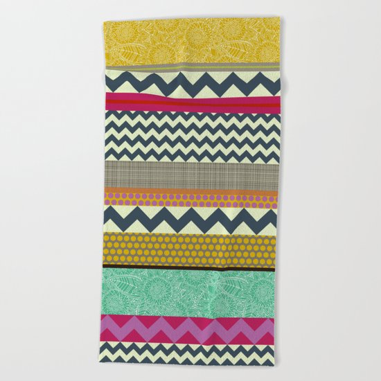 New York Beauty stripe Beach Towel