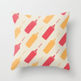 Flight of the Condiments Throw Pillow