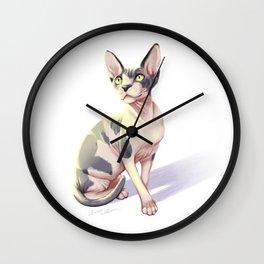 Sphynx Cat Painting -- Kirby Wall Clock