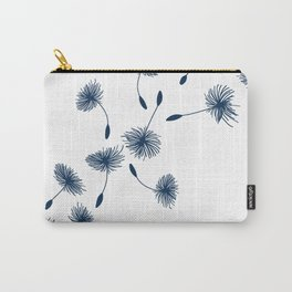Wispy Blue Dandelion Seeds Blowing in the Breeze Carry-All Pouch