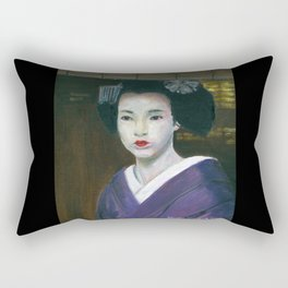 Geisha at the Window Rectangular Pillow