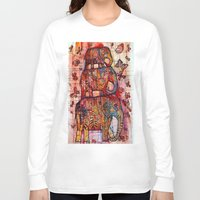 elephants Long Sleeve T-shirts featuring Elephants by oxana zaika