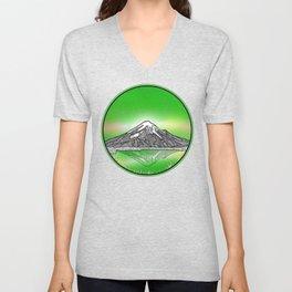 Mount Taranaki New Zealand Unisex V-Neck