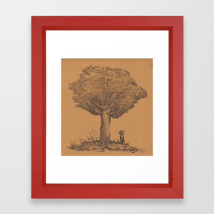 1983 Under The Tree Framed Art Print