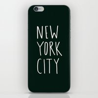 nyc iPhone & iPod Skins featuring NYC by Leah Flores