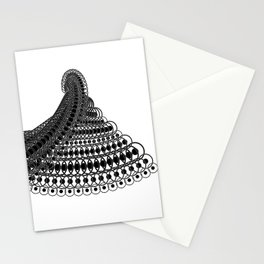 Geometric Lace in Black on White Stationery Cards