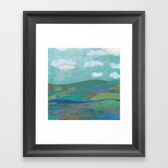 COLLAGE LOVE: Seascape Framed Art Print