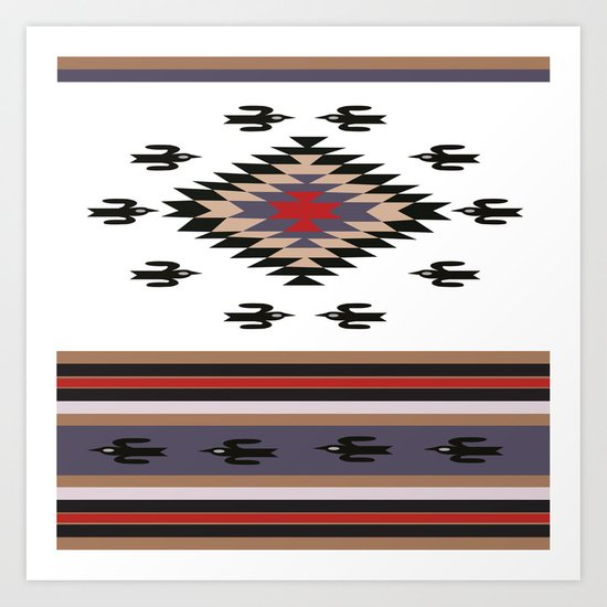 American Native Pattern No. 23 Art Print