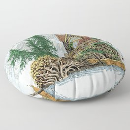 MY ISLAND RETREAT BEYOND MOUNT SHUKSAN Floor Pillow