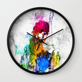 The Boss Bruce S. Grunge Wall Clock