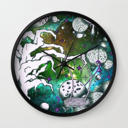 Galaxy Crusher Wall Clock