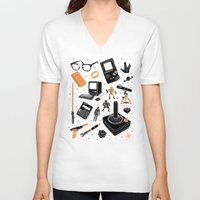 nerd V-neck T-shirts featuring Nerd Life by Josh Ln