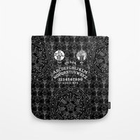 ouija Tote Bags featuring OUIJA by DIVIDUS
