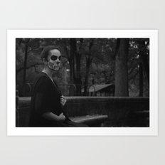 Death Wears Black Art Print