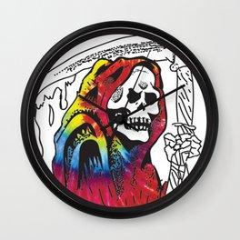 Hippie Grim Wall Clock