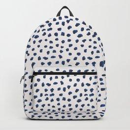 Handmade animal print blue shades Backpack