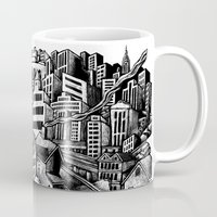 cityscape Mugs featuring Cityscape by Nip Rogers