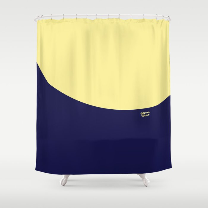 COLOUR COUPLES CANARY YELLOW AND BLUE Shower Curtain By Irikirova