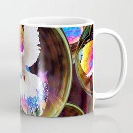 SURREAL WHITE DOVES & IRIDESCENT  SOAP BUBBLES Coffee Mug
