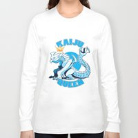 kaiju Long Sleeve T-shirts featuring kaiju queen by Amanda Lien