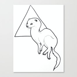 Triangle Otter Canvas Print