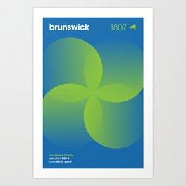 Brunswick, NY Art Print
