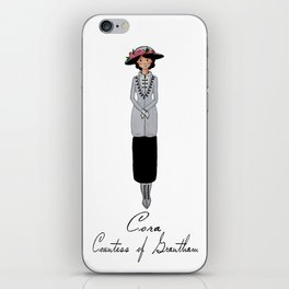 Downton Abbey Character Portrait - Cora Crawley iPhone Skin