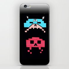 Captain America  & Red Skull space invaders iPhone & iPod Skin