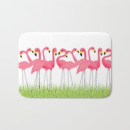 Cuban Pink Flamingos Bath Mat
