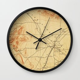 Vintage Map of The Las Vegas Valley NV (1907) Wall Clock