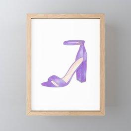 Purple Shoe Framed Mini Art Print