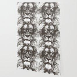 Lion in glasses Wallpaper