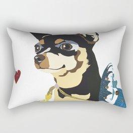Fidget Wigglesworth in Blue Rectangular Pillow