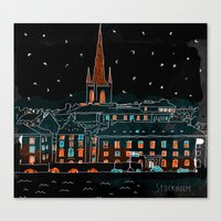 stockholm Canvas Prints featuring Stockholm by Dobleu