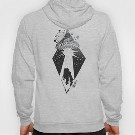 """Taken"" UFO Alien Abduction Originl Artwork, Parnormal, Outer Space Wall Art Hoody"