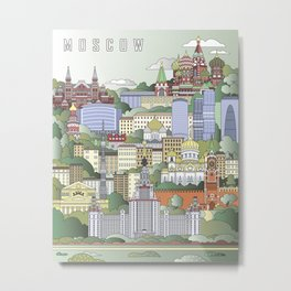 Moscow City Poster Metal Print