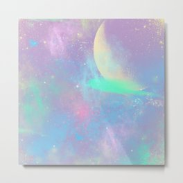 Pastel Space Metal Print